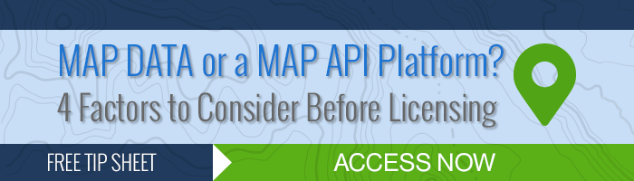 Map Data or API Platform Tip Sheet